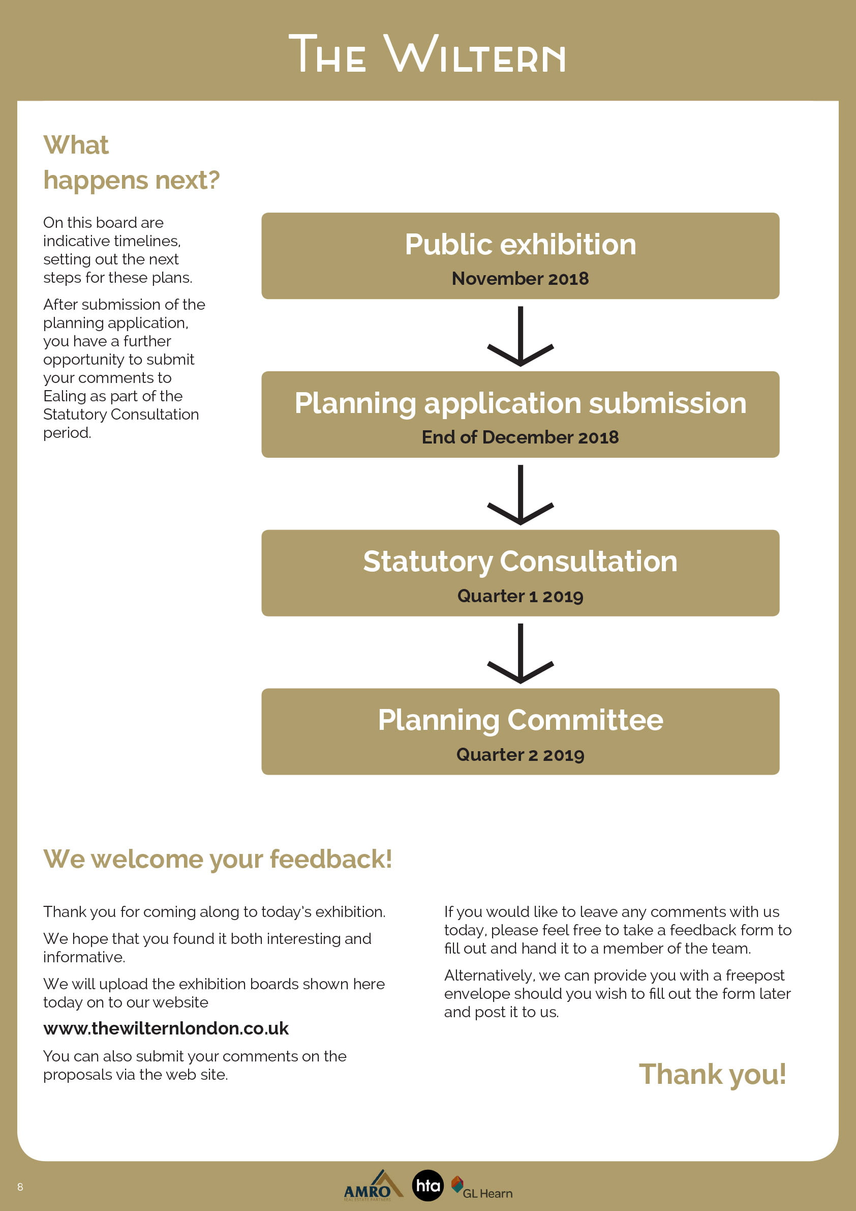 The Wiltern London Consultation Boards